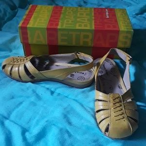 Bare Traps bright yellow sandals